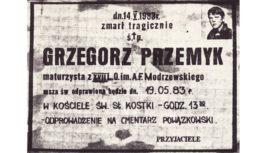Rocznica śmierci Grzegorza Przemyka